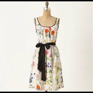 Moulinette Souers Anthropologie flower silk dress